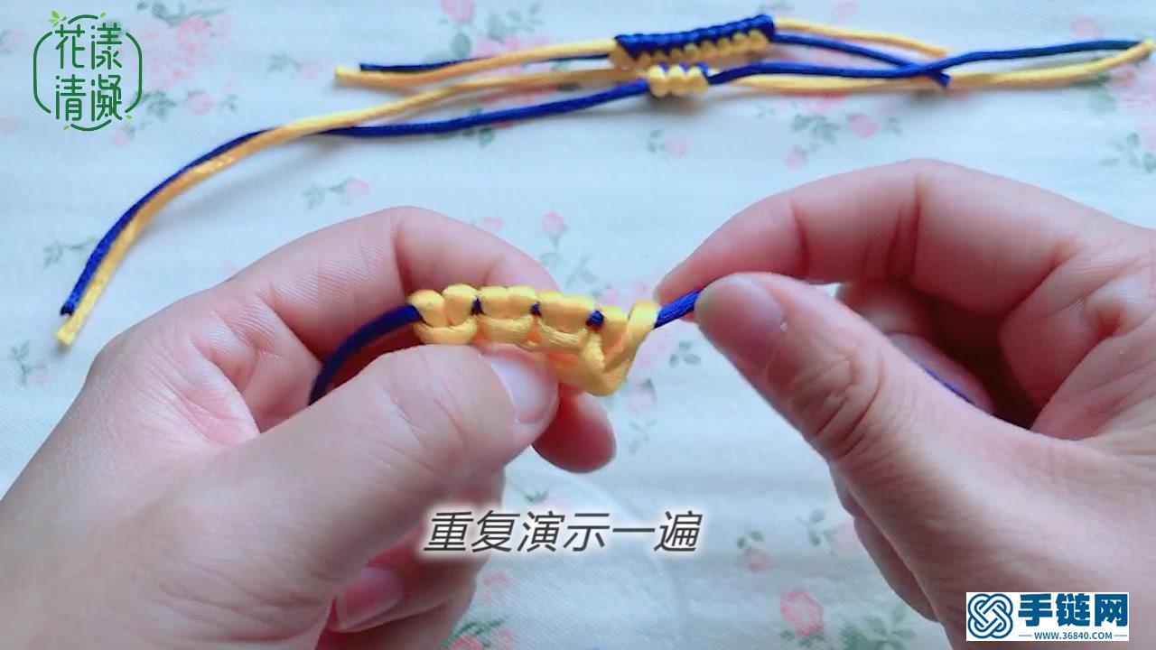 中国结基础,雀头结&斜卷结的编法图解视频