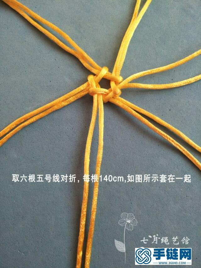 青花瓷柱教程编绳教程-完整编法步骤