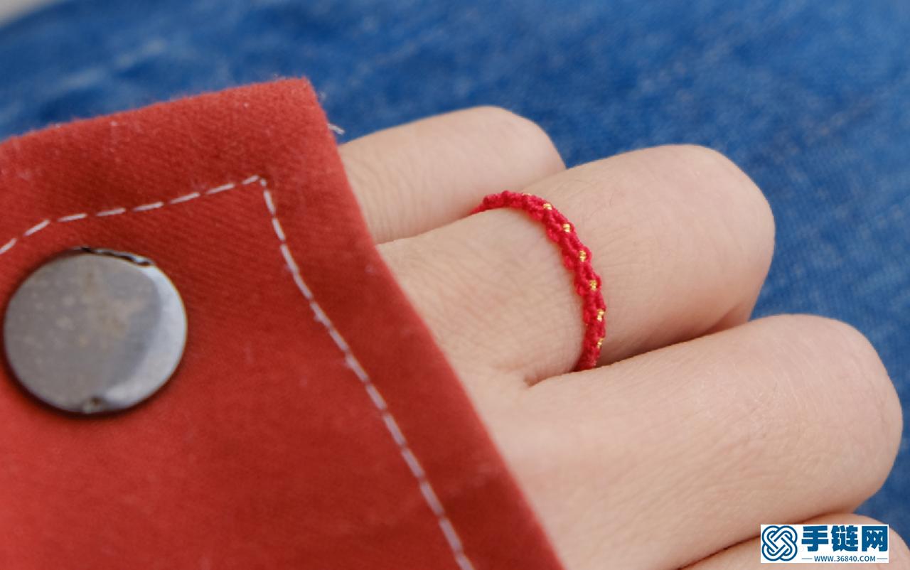 """""""编戒指""""一个6分钟的戒指教程 情人节的惊喜准备好了没 主要结法斜卷结 比较细小的一款戒指动手DIY吧"""