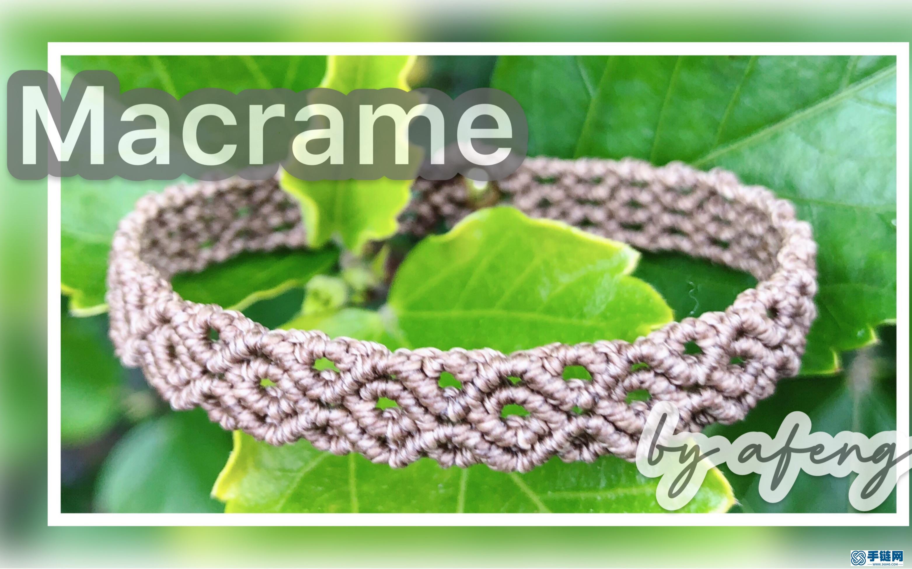 Macrame视频教程,花边手链编织视频教程