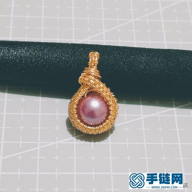 看似复杂的珍珠绕线吊坠其实很简单