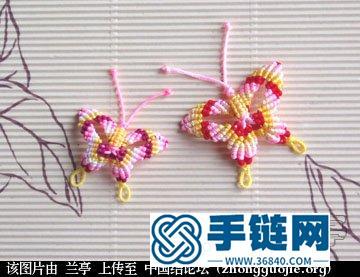 编绳蝴蝶详细步骤教程图解,教你用玉线编织立体蝴蝶