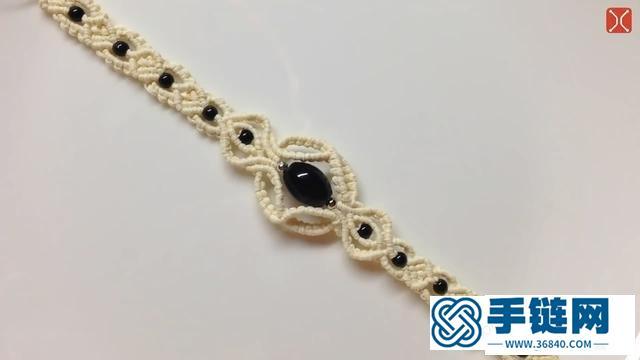 黑曜石编织手链编法图解,简单好看的编绳方法
