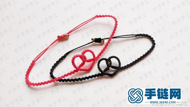 七夕爱心情侣手绳,有对象的你一定要学着做