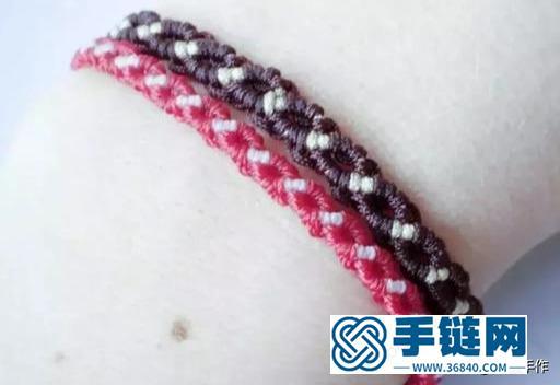 如何做一条红绳手链,中国结斜卷结教程综合运用,纯手工编织