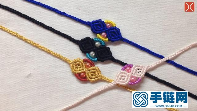 手工编织中国结手链,样式美观又简单,看一遍就学会了