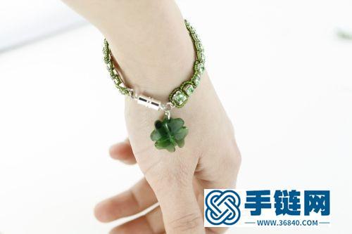 一分钟用钻链和米珠,就可以做一根时尚手链,好看而且有教程哦