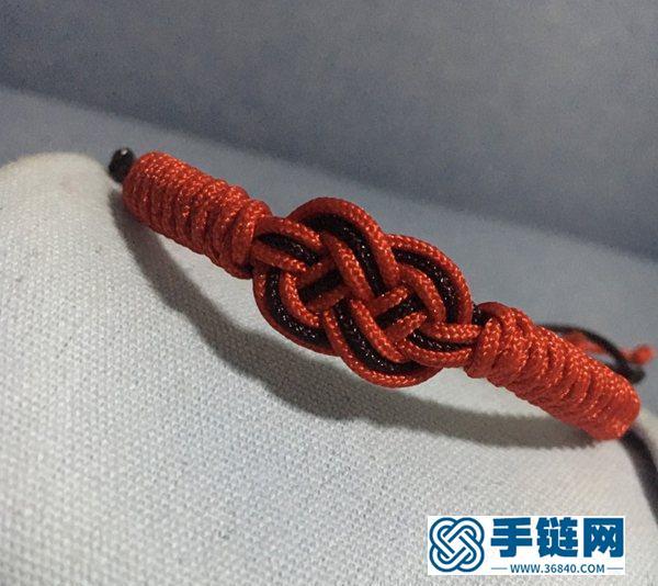 双钱金刚结手链,非常简单,只需2种编法,戴着又好看!附教程