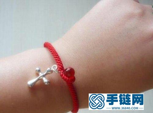 幸运漂亮小红绳手链,附详细教程