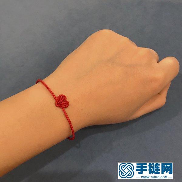 爱心手绳,无论是小姑娘还是妙龄女生,佩戴都非常好看!附教程