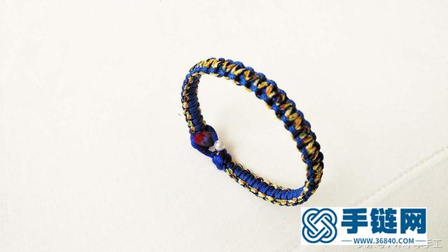 菜鸟也能轻松学会的一款平结红绳手链,简单又大方