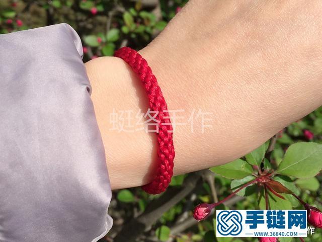 8股辫单色基础款红绳编织手链一款简单的亲子手工教程
