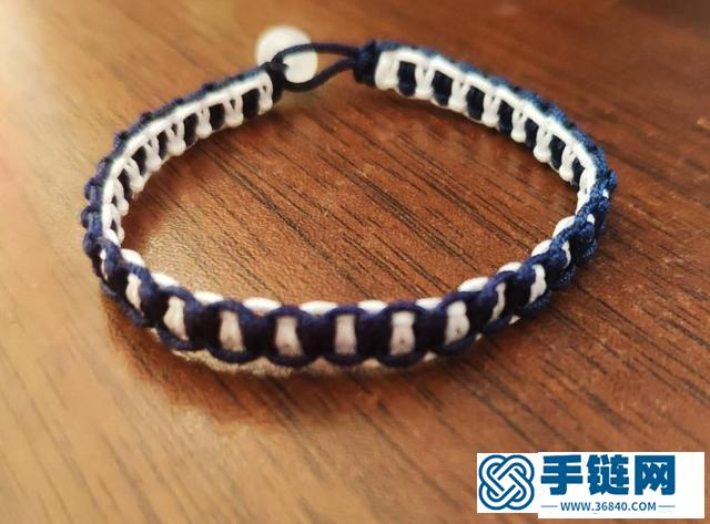 平结手链编法图解,平结手链要多长线