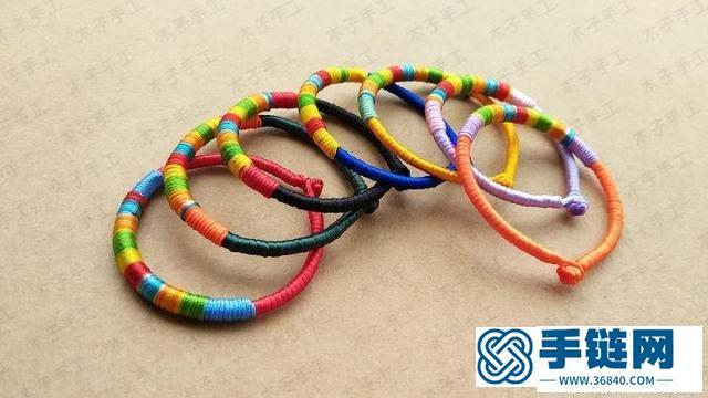 手链编织教程图解,端午红绳做法