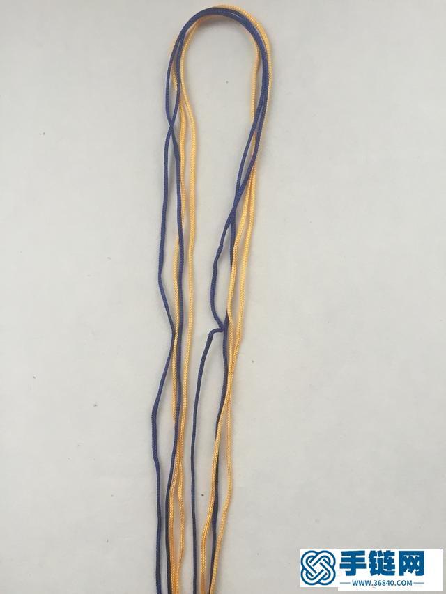 四面八股绳的编法图解,八股绳手链编织教程