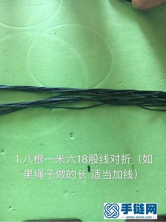 曼陀罗项链绳编法