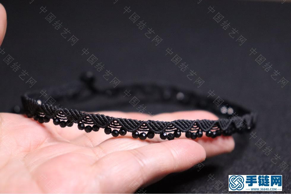 黑尖晶锁骨链