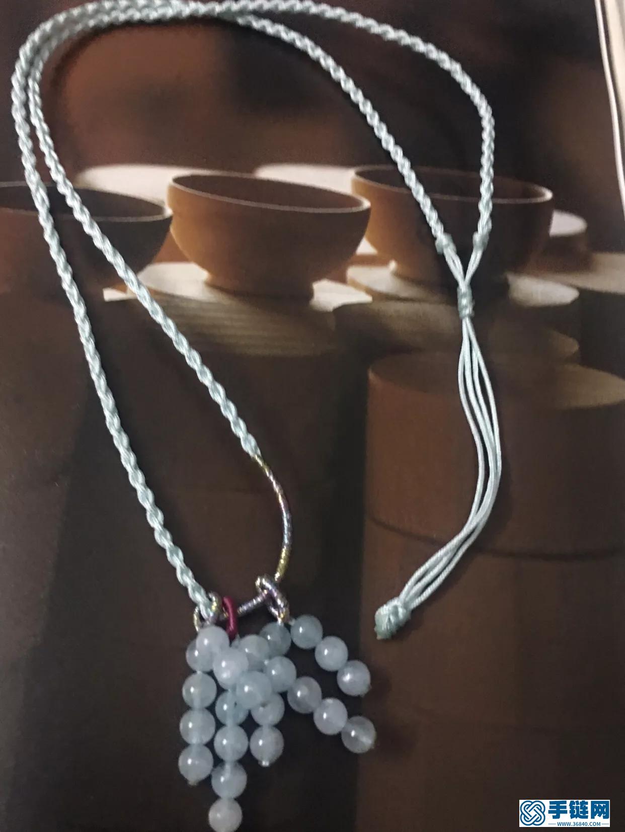 海蓝宝编织样式,简单好看的项链绳做法