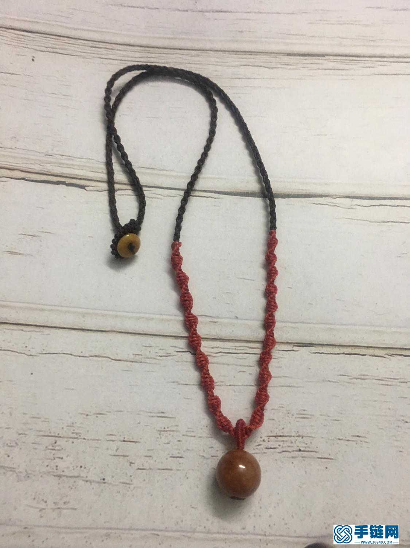 红翡圆珠项链绳编法图解