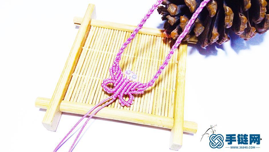蝴蝶编绳项链编法步骤