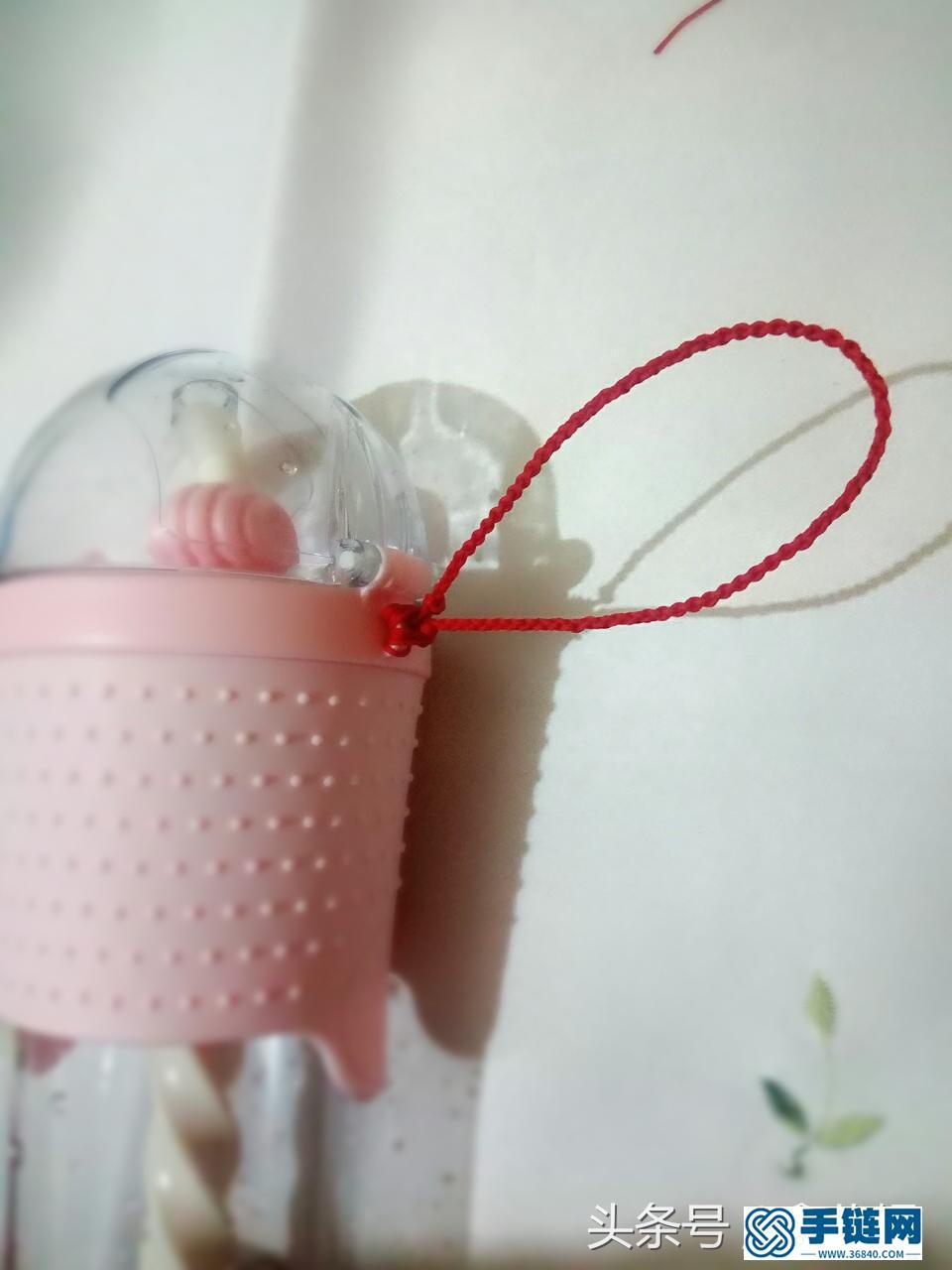 杯子挂绳编法图解,教你简单水杯绳子如何编